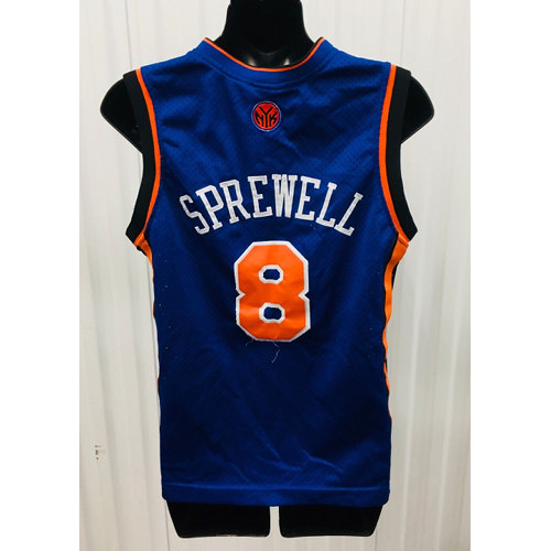 ... norway latrell sprewell nike new york knicks sewn nba throwback jersey  youth large back 68a85 b90a2 7ad43d4f9