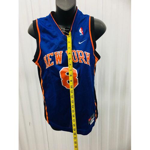 big sale b4ebb 5f42f Latrell Sprewell New York Knicks Youth NBA Nike Sewn JERSEY LARGE
