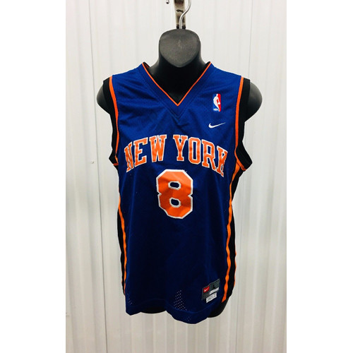 big sale afd45 ef8c2 Latrell Sprewell New York Knicks Youth NBA Nike Sewn JERSEY LARGE