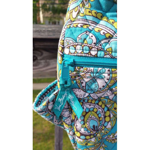 vera bradley crossbody quilted shoulder diaper bag peacock pattern
