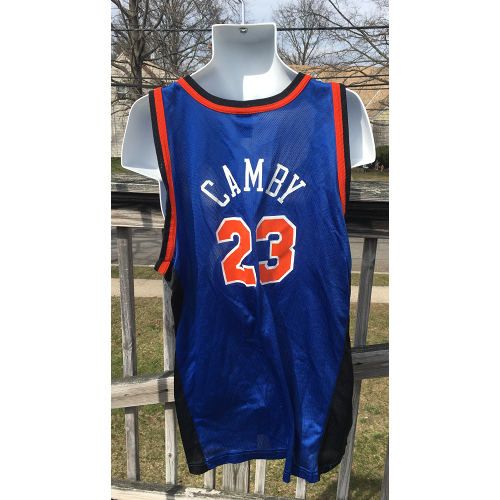 13842446733 New York Knicks Marcus Camby NBA Jersey 2xl Champion Vintage 52 Size 2xl  back