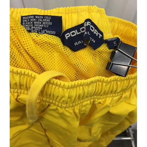 be24435355f586 Polo Sport Track Pants Mens S Joggers Yellow 90s Ralph Lauren Zip Bottom