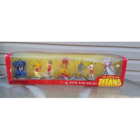 Teen Titans Boxed PVC 7 Figure Set 2000 DC Comics