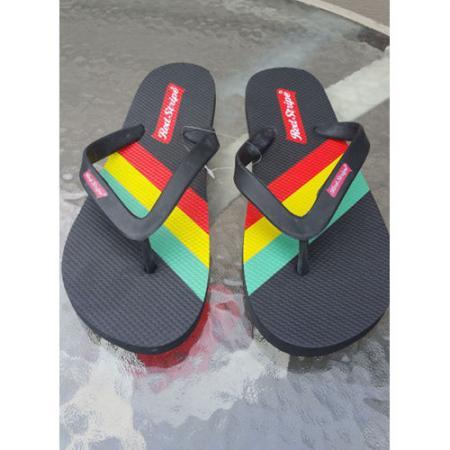 Red Stripe Flip Flops - Unisex Size M 10.5