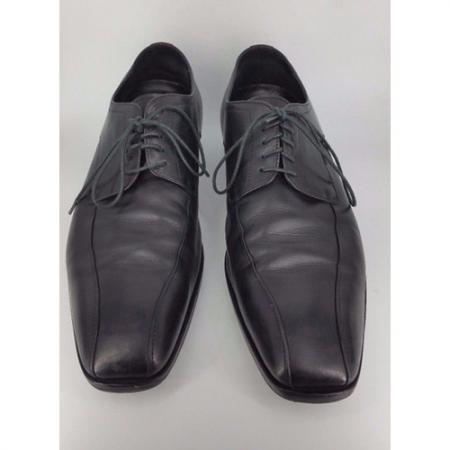 HUGO BOSS Black VAREB Oxford Mens Dress Leather Shoes us12 eu 45