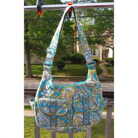 Vera Bradley Crossbody Quilted Shoulder Bag Peacock Pattern~Retired.