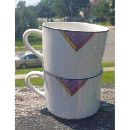 Pair Royal Majestic Stoneware Simplicity 8227 coffee cup