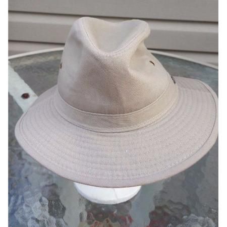 Tommy Bahama Safari Relax Fit Beige Cotton Outdoor Hat Size L
