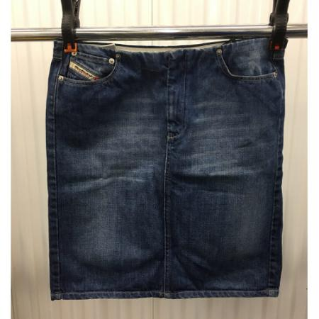 Diesel Industry Blue Jean Denim Pencil Skirt Womens Size 31 made in Italy