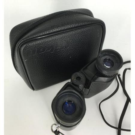 nikon binoculars. Small traveler with leather case2