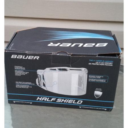 Bauer RBE 1 Certified Ice Hockey Helmet Clear Half Shield Fits Most Brands 680680793494