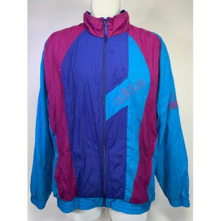 80's Adidas full zip embroidered track jacket CA00411