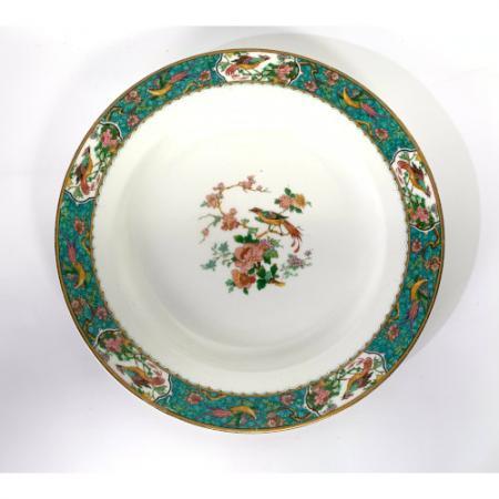 W H Grindley Braintree Antique Bird of Paradise Art Nouveau Dinner Plate